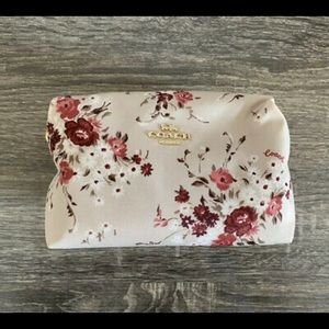Coach floral nylon cosmetics bag